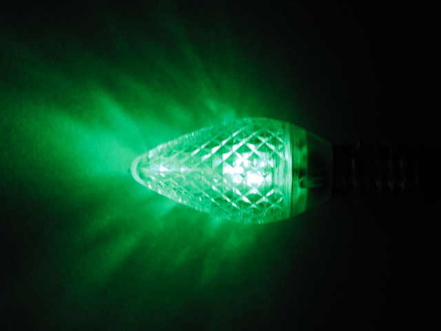 C9 LED lamp-green