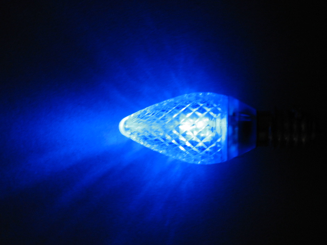 C9 LED lamp-blue
