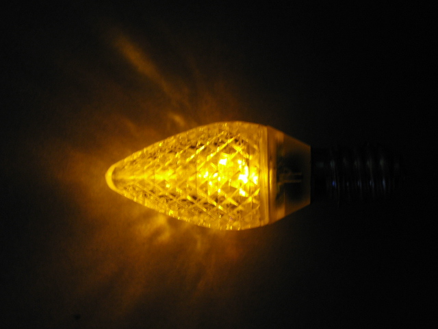 C9 LED lamp-yellow