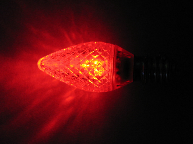 C9 LED lamp-red